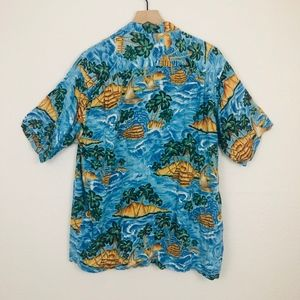 Pineapple Connection Shirts - [Pineapple Connection] Blue Hawaiian Button Down